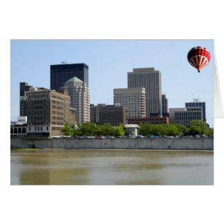 Stadt-Skyline Daytons Ohio Karte