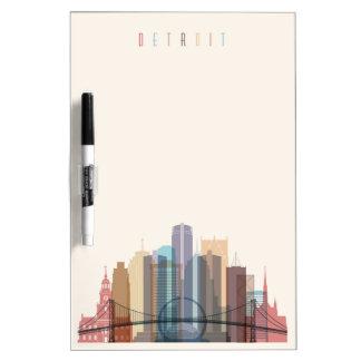 Stadt-Skyline Detroits, Michigan | Memoboard