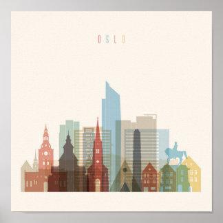 Stadt-Skyline Oslos, Norwegen   Poster