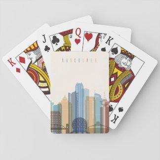 Stadt-Skyline Vancouvers, Kanada   Spielkarten