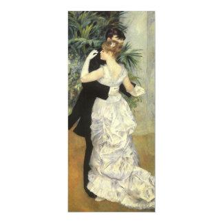 Stadt-Tanz durch Renoir, Vintage Kunst-Hochzeit 10,2 X 23,5 Cm Einladungskarte