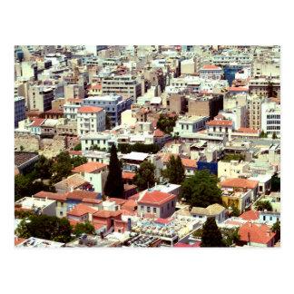 Stadt von Athen, Griechenland Postkarte