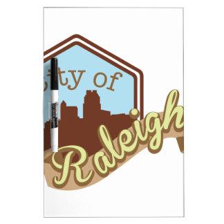 Stadt von Raleigh Trockenlöschtafel