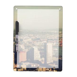 Stadt von Seattle. Ansicht vom Stadtturm. Whiteboard