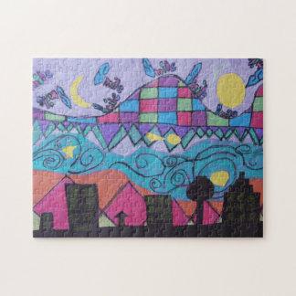 Stadtbild-Puzzlespiel