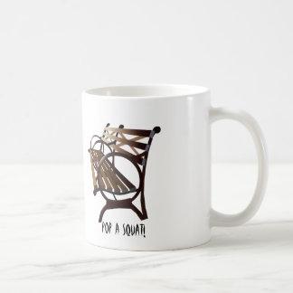 Städtische Art-Kaffee-Tasse mit Park-Bank Kaffeetasse