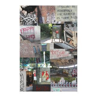 Städtische ausdrucksvolle Collage Leinwand Druck
