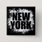 Städtische Graffiti New York Quadratischer Button 5,1 Cm