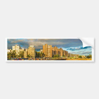 Städtische Küstenszene, Montevideo, Uruguay Autoaufkleber