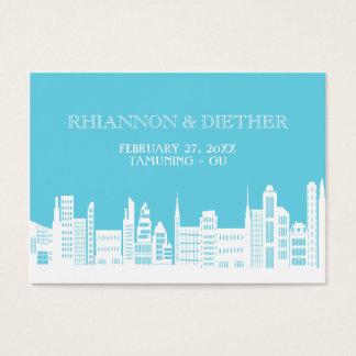 Städtische Stadt-Hochzeits-Platzkarten Visitenkarte