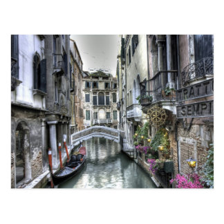 Städtische Szene in Venedig-Postkarte Postkarte