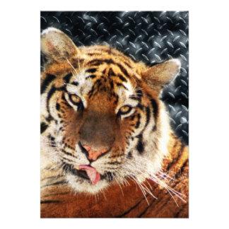 Städtischer Dschungel - Diamanten und Tiger Einladungskarten