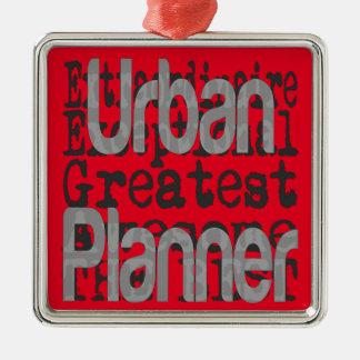 Städtischer Planer Extraordinaire Silbernes Ornament