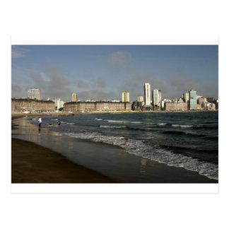 Städtischer Strand Argentinien Mar del Platas Postkarte