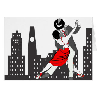 Städtischer Tango Grußkarte