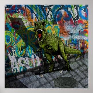 Städtisches T-Rex Poster