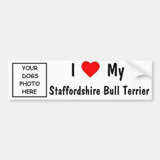Staffordshire-Bullterrier Autoaufkleber