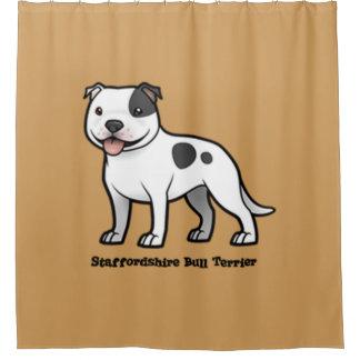 Staffordshire-Bullterrier Duschvorhang