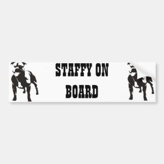 Staffy an Bord Autoaufkleber