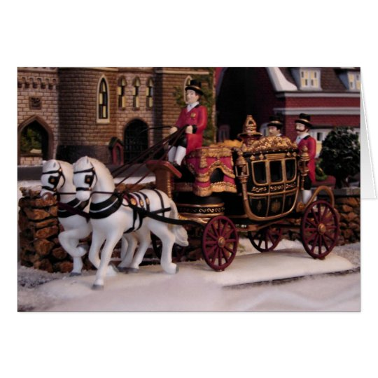 Stagecoach-Weihnachtskarte Karte
