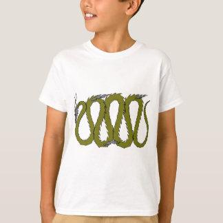 Stahl- und grüner Drache-Platte T-Shirt