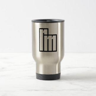 "Stahlendreise-Tasse mit ""Rm"" Initialen/Logo Edelstahl Thermotasse"
