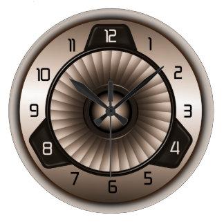 Stahljet-Motor-Luftfahrt-große runde Wand-Uhren Große Wanduhr