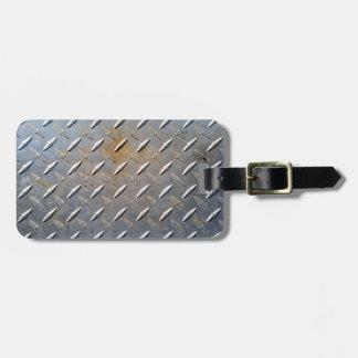 Stahlmetalldiamantmuster grau und rostig kofferanhänger