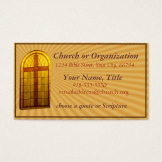 Stainglass Kirchen-Fenster Visitenkarte