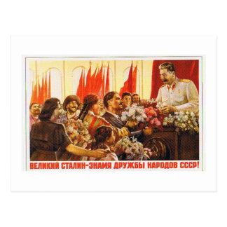 stalin.leader von UDSSR Postkarte