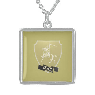 Stamm der Gad-Wappen-Sterlingsilber-Halskette Sterling Silberkette