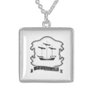 Stamm der Zebulun Wappen-Sterlingsilber-Halskette Sterling Silberkette