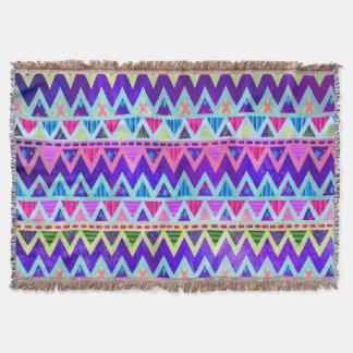 Stammes- aztekische Zickzack lila rosa Neondecke Decke