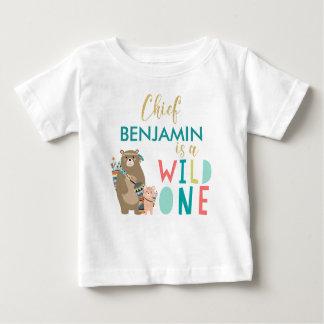 Stammes- Bärn-wildes 1. Geburtstags-Shirt Baby T-shirt