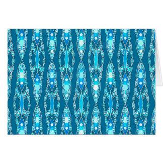 Stammes- Batik - Ozean-Blau und Aqua Karte
