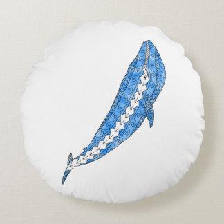 Stammes- Blauwal Rundes Kissen
