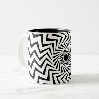 Stammes- Blitz-Bolzen Zweifarbige Tasse