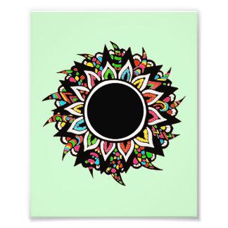 Stammes- Blume Photographischer Druck