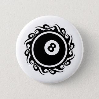 Stammes- eightball runder button 5,7 cm