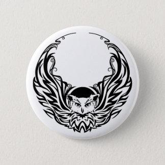 Stammes- Eule Runder Button 5,1 Cm