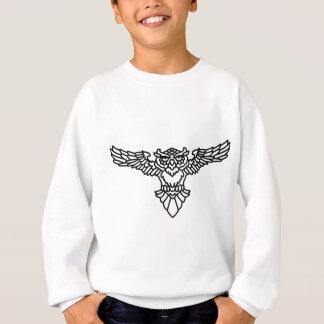 Stammes- Eule Sweatshirt