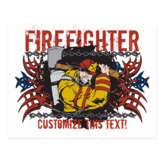 Stammes- Feuerwehrmann Postkarte