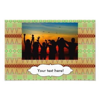 Stammes- Formmuster Kunstfoto