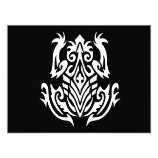 Stammes- Frosch-Silhouette Fotografische Drucke