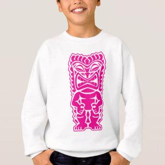 Stammes- Gott des heftigen tiki Pink-Kriegers Sweatshirt
