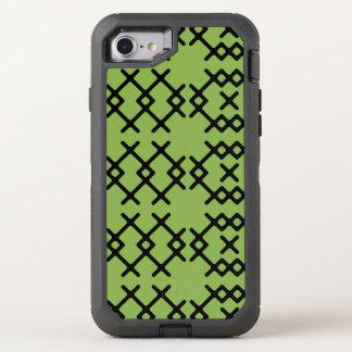 Stammes- Grün grünen Nomade-geometrische Formen OtterBox Defender iPhone 7 Hülle