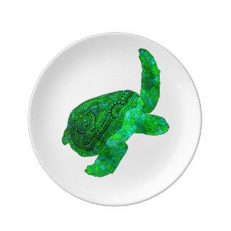 Stammes- grüne Meeresschildkröte Teller