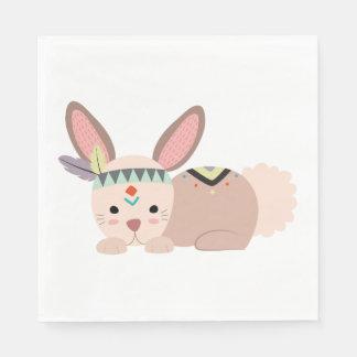 Tribal Bunny Napkin