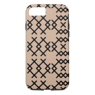 Stammes- Haselnuss-Nomade-geometrische Formen iPhone 8/7 Hülle