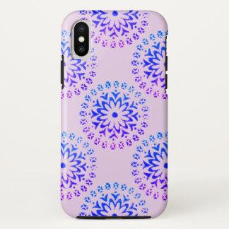 Stammes- Kreismandala-lila Tinte iPhone X Hülle